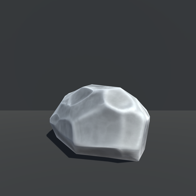 Small pebble-like rock, unity3d