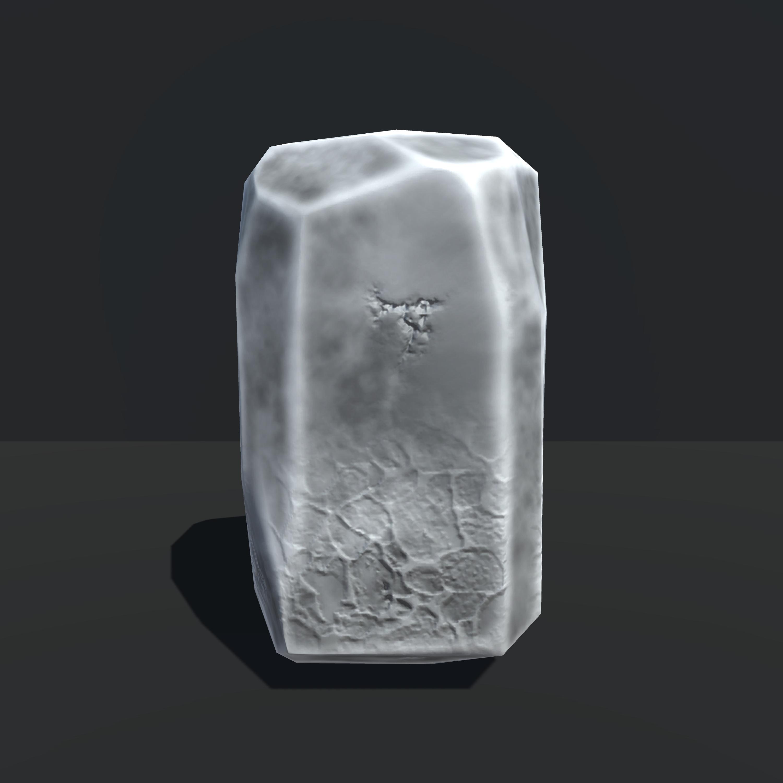 Tall Rectangular Rock, Unity 3d
