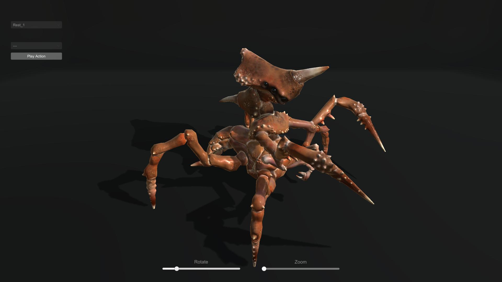 Game Dev Crab Monster