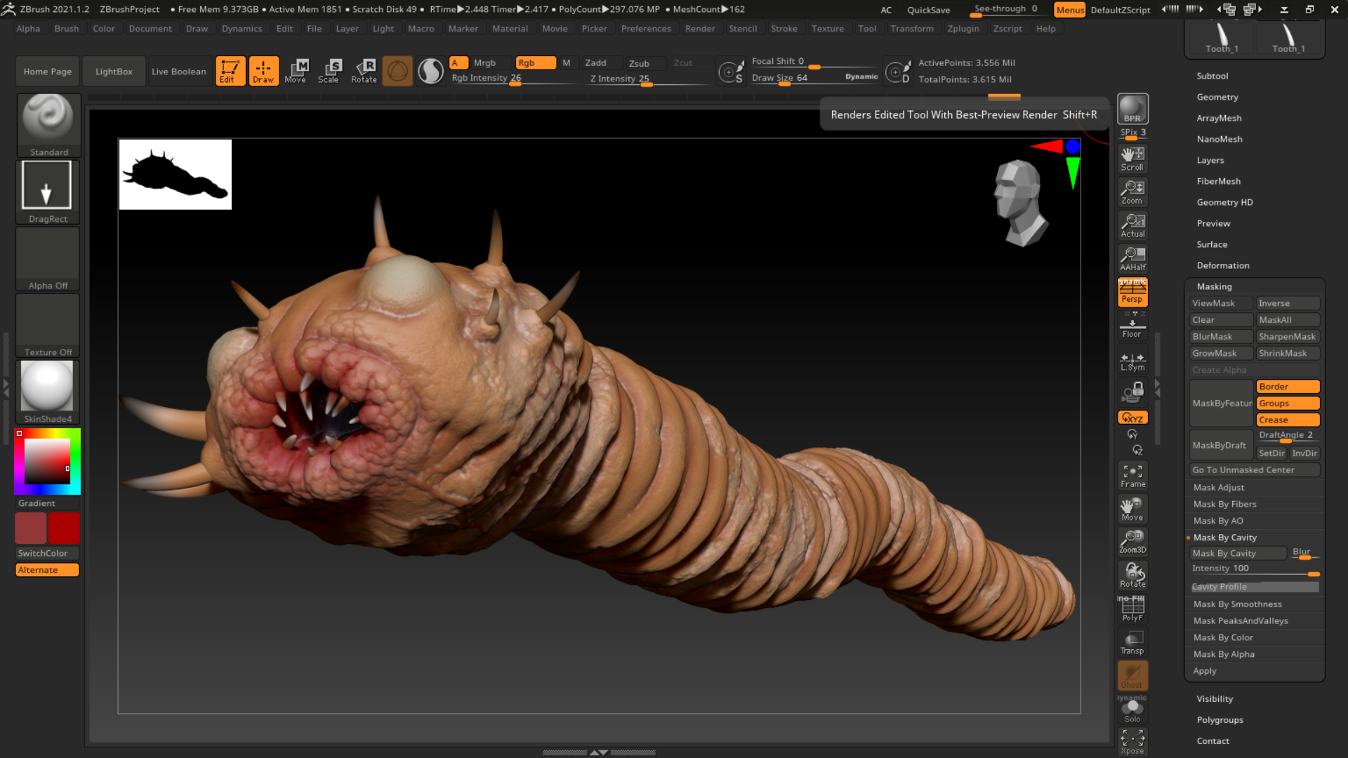 Sea Worm Monster