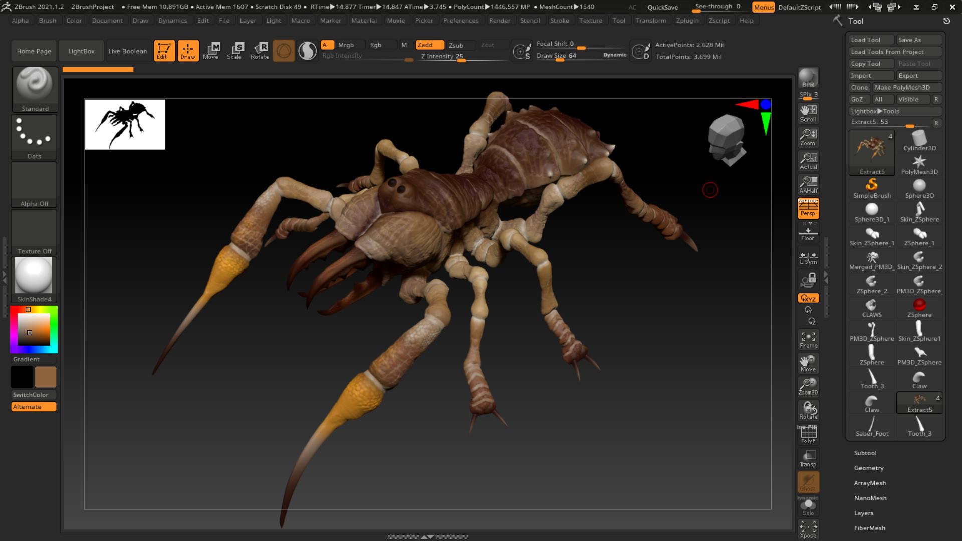 Camel Spider, Monster Redesign