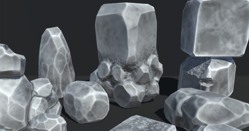 Semirealistic Rocks, Created for Unity3d