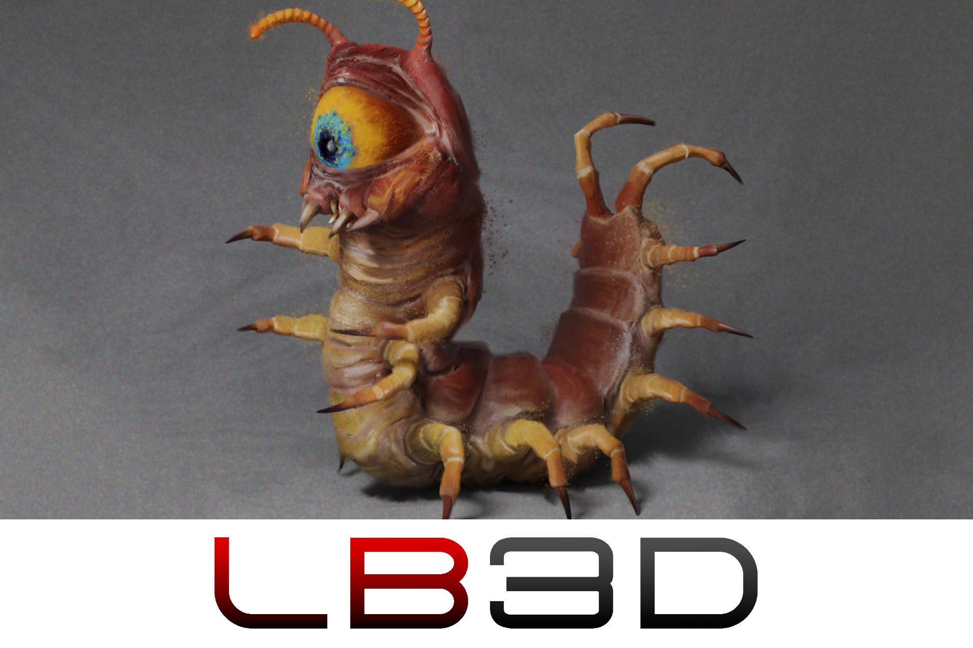 Centipede Eyeball Monster inspired from Classic Zelda