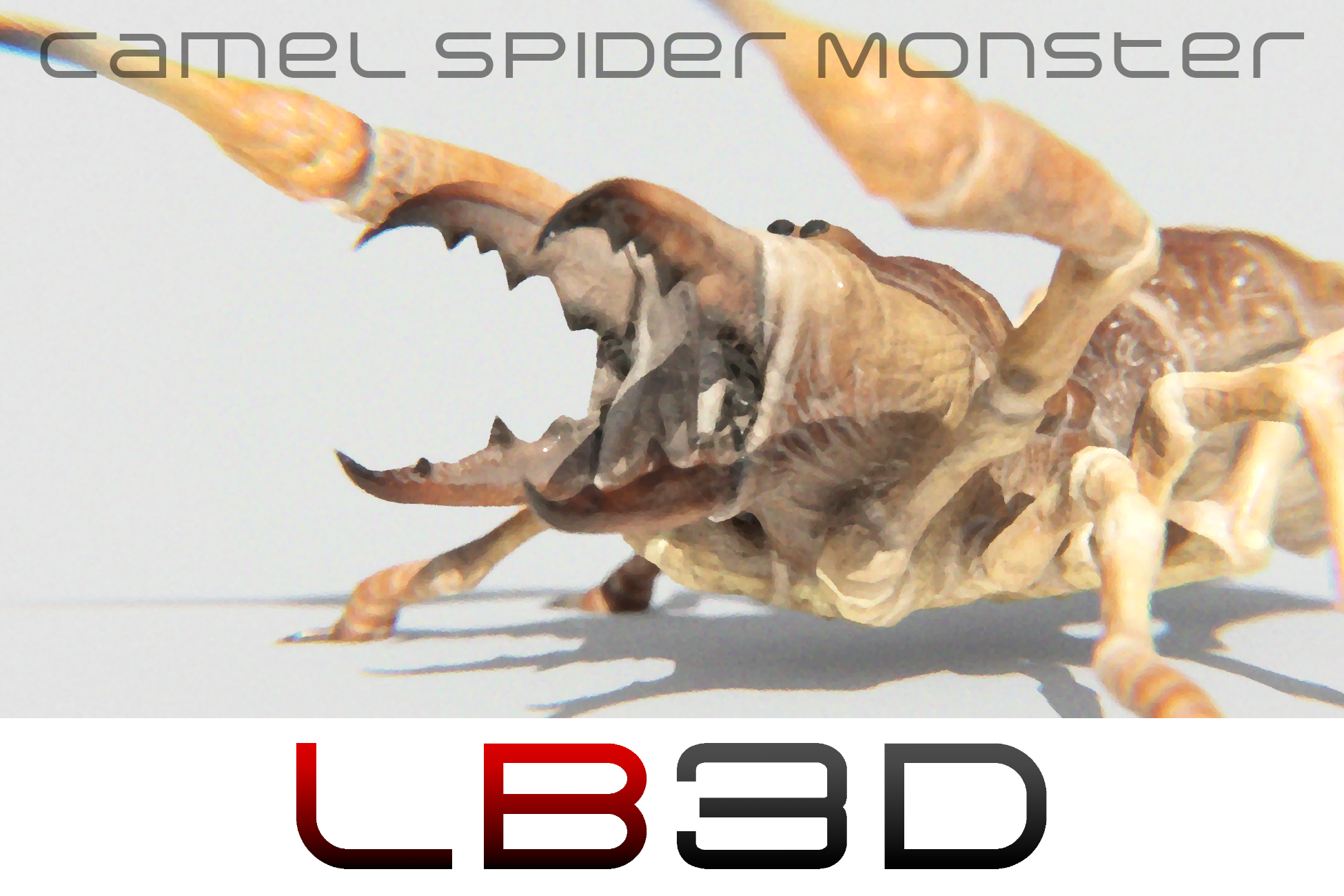 Preview of the Camel Spider Game Asset