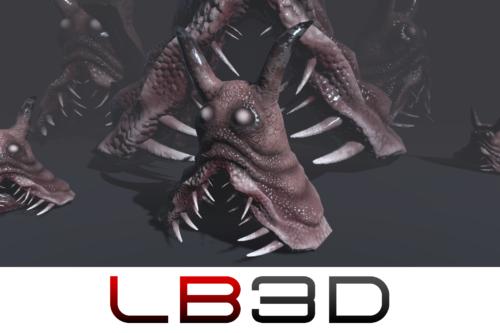 Sluggor the Slug Monster 3d Game Asset (Unity 3d)