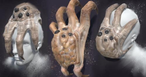 Kranion Drone - Headgrabber Facehugger Headcrab Digital Painting